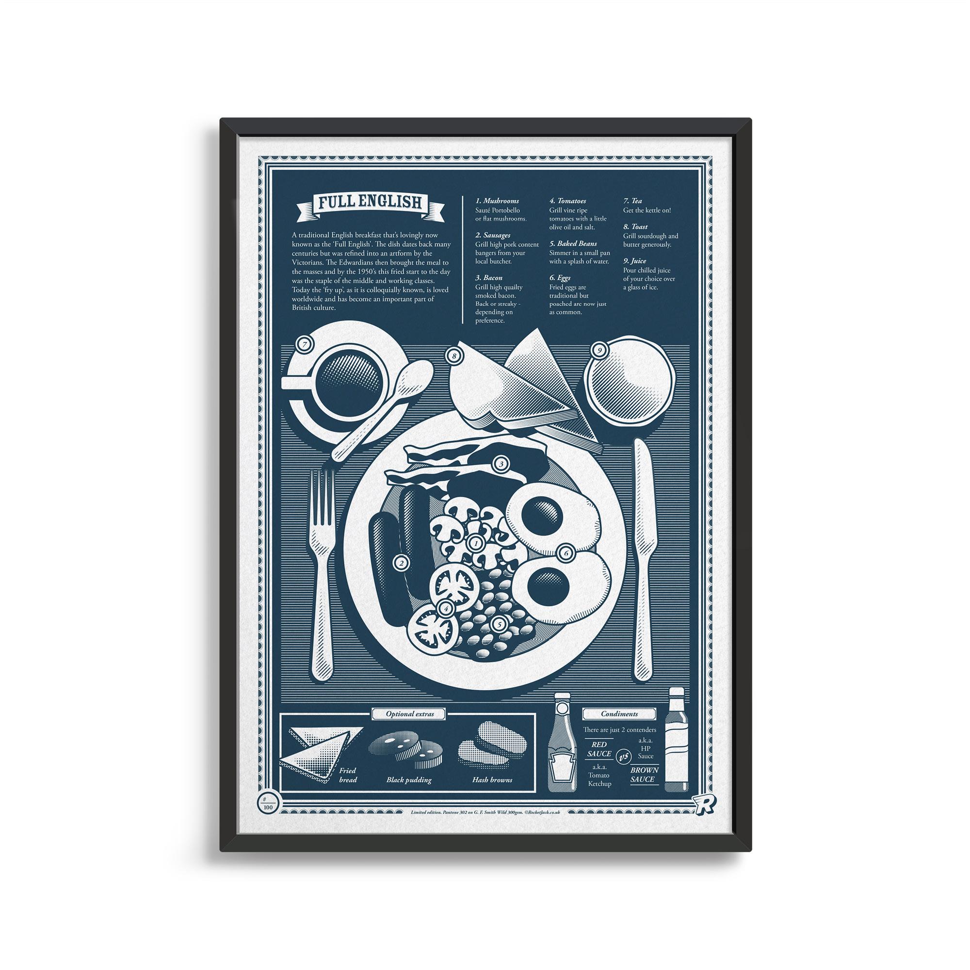 Rocket Jack, Full English Print