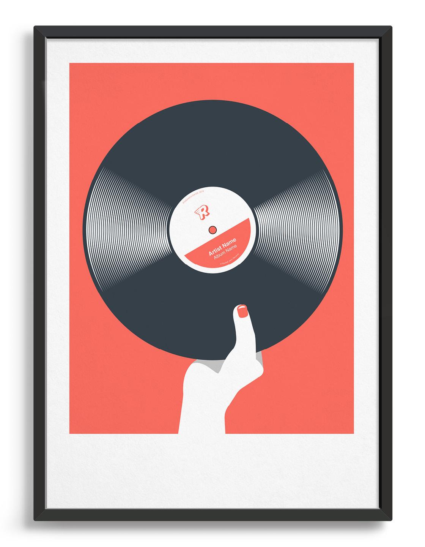 Rocket Jack, Retro Coloured Vinyl Art Print Red