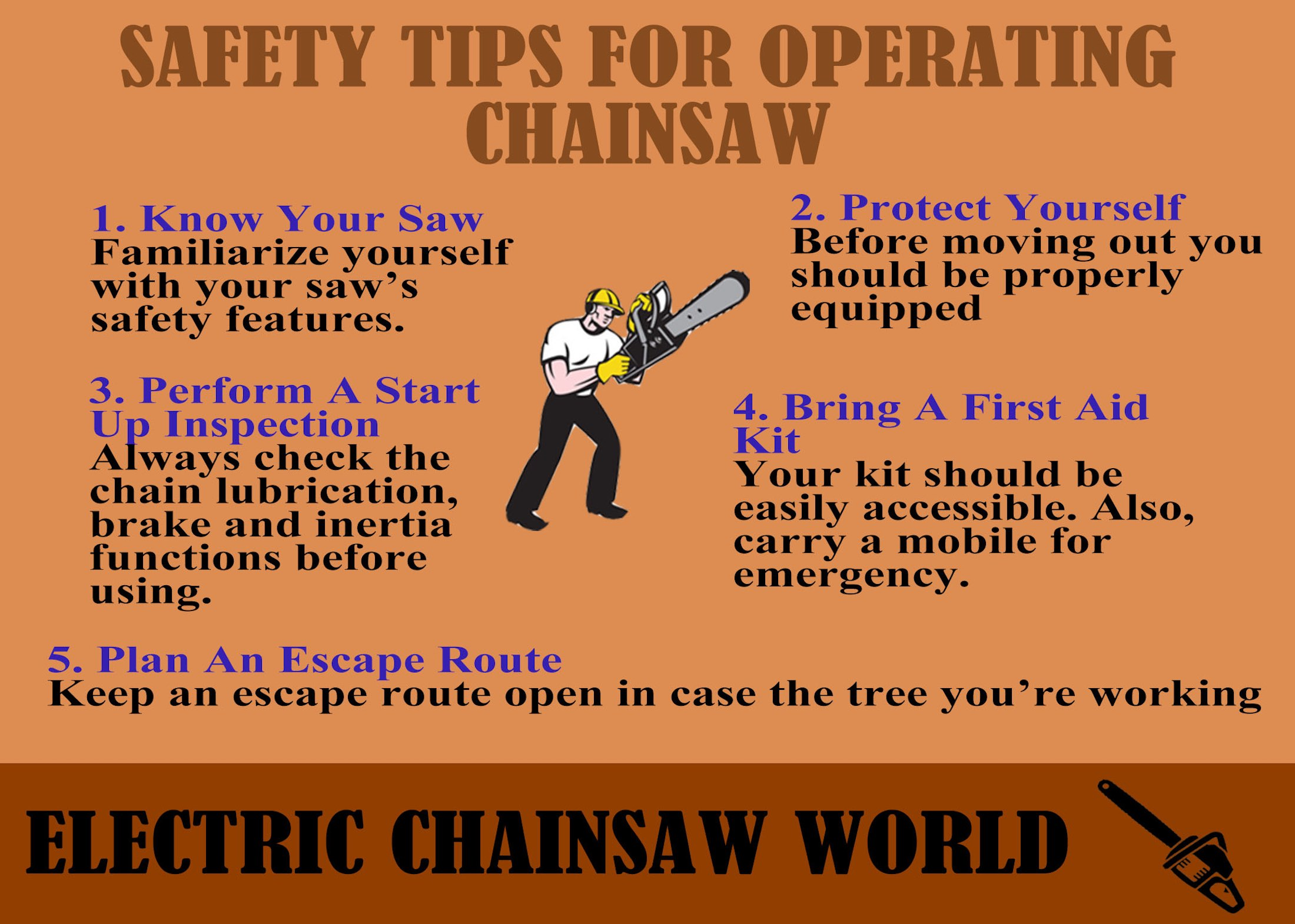 Safety Tips For Operating Chainsaw