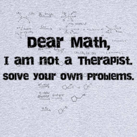 Dear Math, solve your own problems