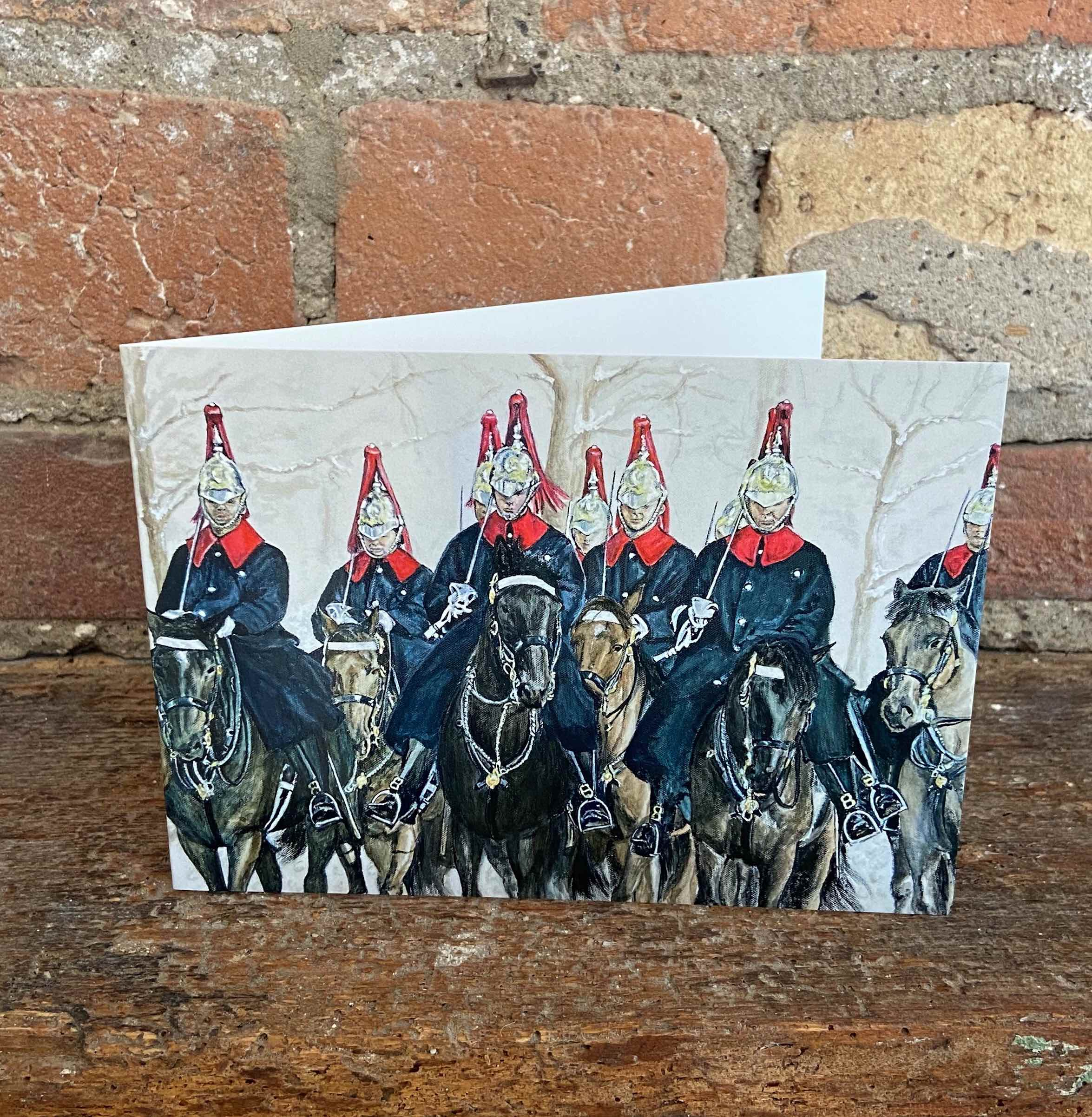 Artist takes charge of cavalry Christmas card